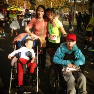 Jacqueline court au Marathon de Lausanne pour Jeti